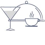 Restaurants, Bars und Cafés